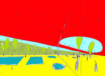 2. nagrada na natječaju za Gradski zatvoreni bazen u Kutini