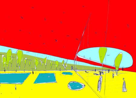 库蒂纳市室内游泳池比赛二等奖
