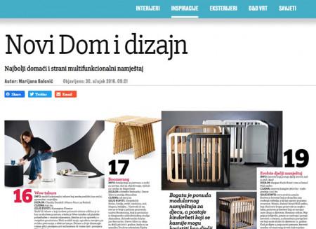 Jutarnji list – Dom&Dizajn/ 2016