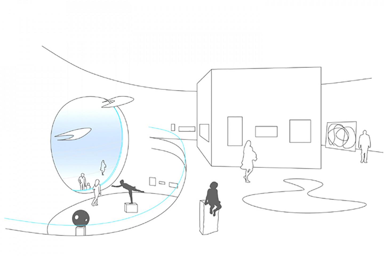 ALU Artforum Zagreb • sketch • interieur