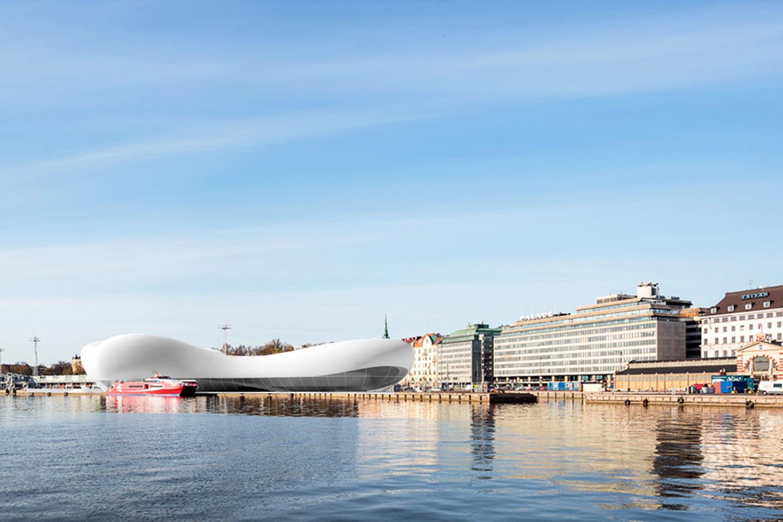 Guggenheim museum Helsinki • view from the sea