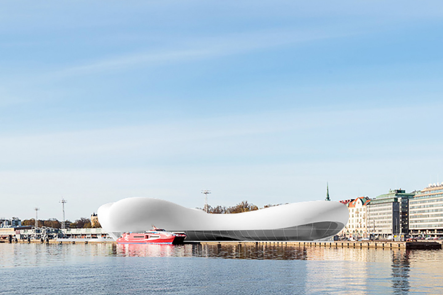 Guggenheim museum Helsinki • view of the old part of town