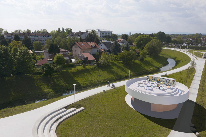 Ivanic Grad pavilion • roof as a terrace