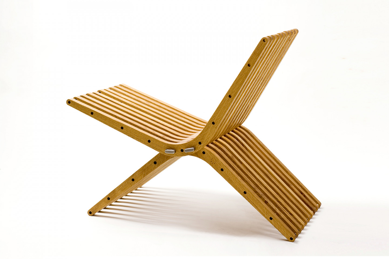 boomerang • croatian oak and stainless steel