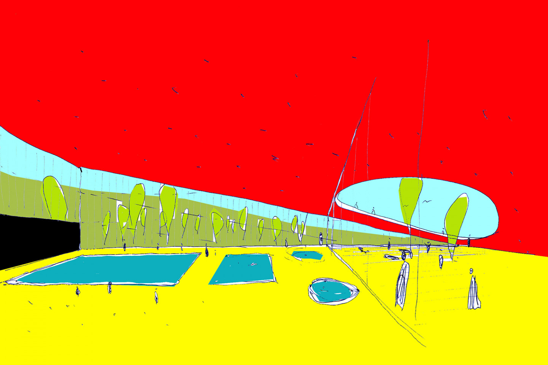 swimming pool Kutina • sketch • interieur