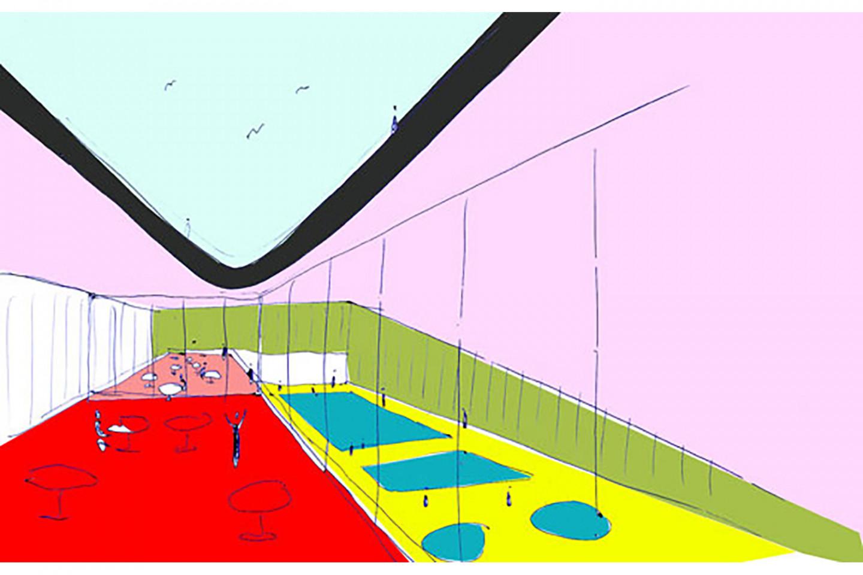 swimming pool Kutina • sketch • roof