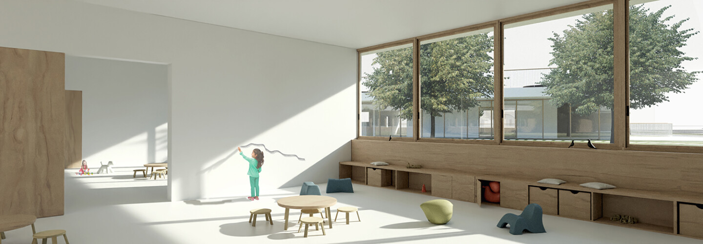 preschool Brezovica • bright and clean multifunctional spaces