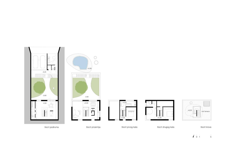 family house in Klostar Ivanic • ground plan